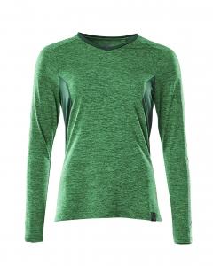 Damen T-Shirt, Langarm meliert, Kaufartikel