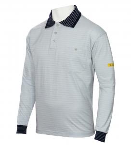 ESD Polo-Shirt CONDUCTEX Cotton Knit, langarm